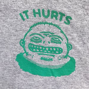 Image of 'It Hurts' T-shirt (Green/Grey)