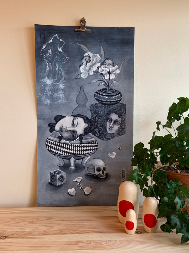 Image of Heads and pots Original and Prints. by Claudia