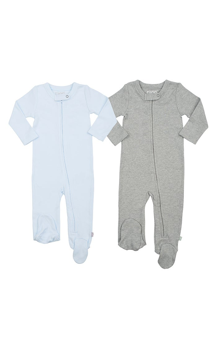 Image of 2pc Zipper Footie Set