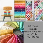 Image of 1/2 yard bundle of V and Co Ombré Confetti Metallic