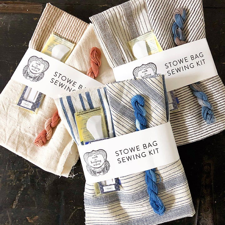 Image of Sashiko Stowe Bag kit — Limited Edition