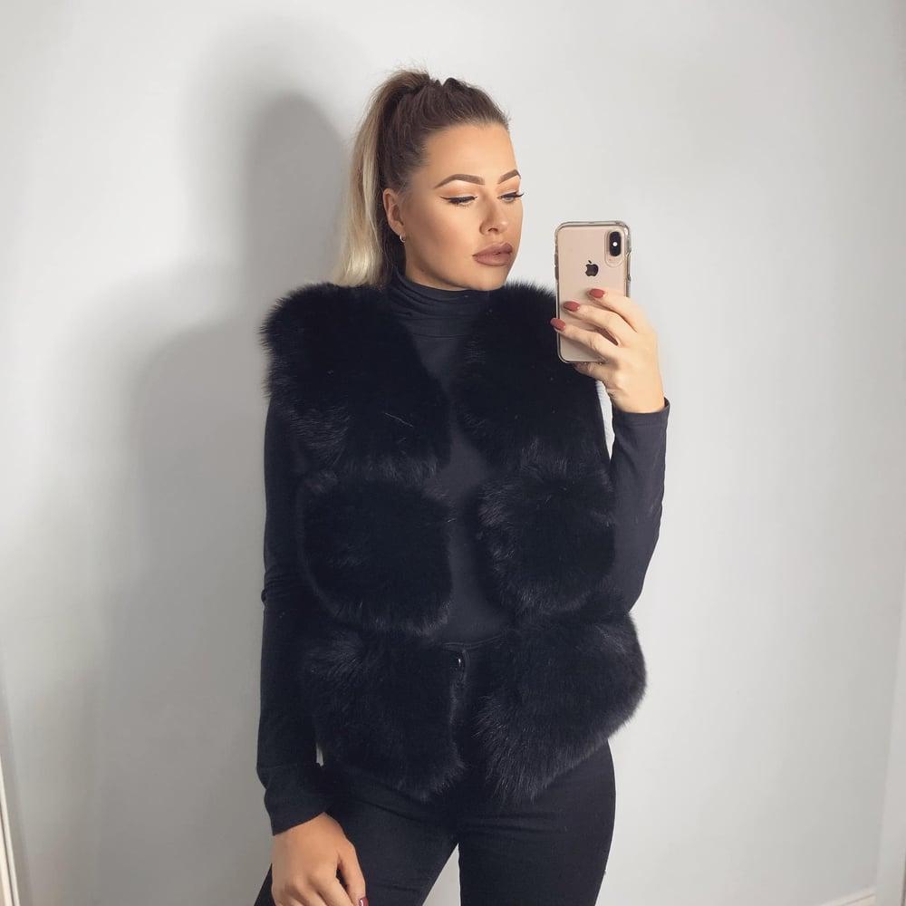 Image of Luxury Black Fur Gilet