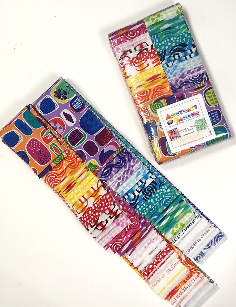 "Image of Abstract Garden Jelly Roll (Strip-pie) 40 - 2 1/2"" strips"