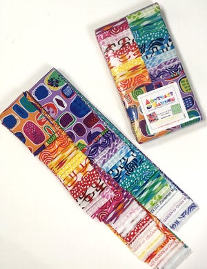 "Abstract Garden Jelly Roll (Strip-pie) 40 - 2 1/2"" strips"