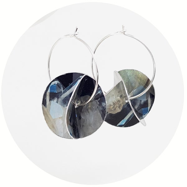 Image of Whirligig Earrings - Crystal Quartz