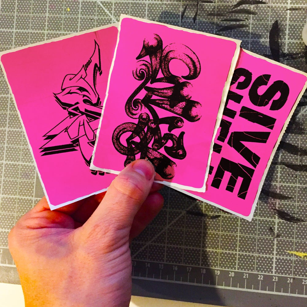 Image of Pink Custom Thermal Transfer Stickers
