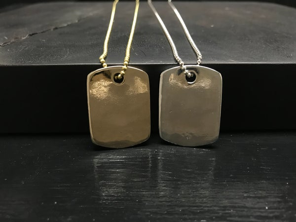 Image of SOLID DOG TAG PENDANT