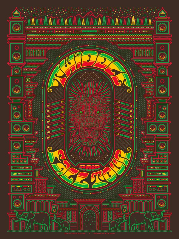 Image of Twiddle Fall Tour 2018 Screenprint