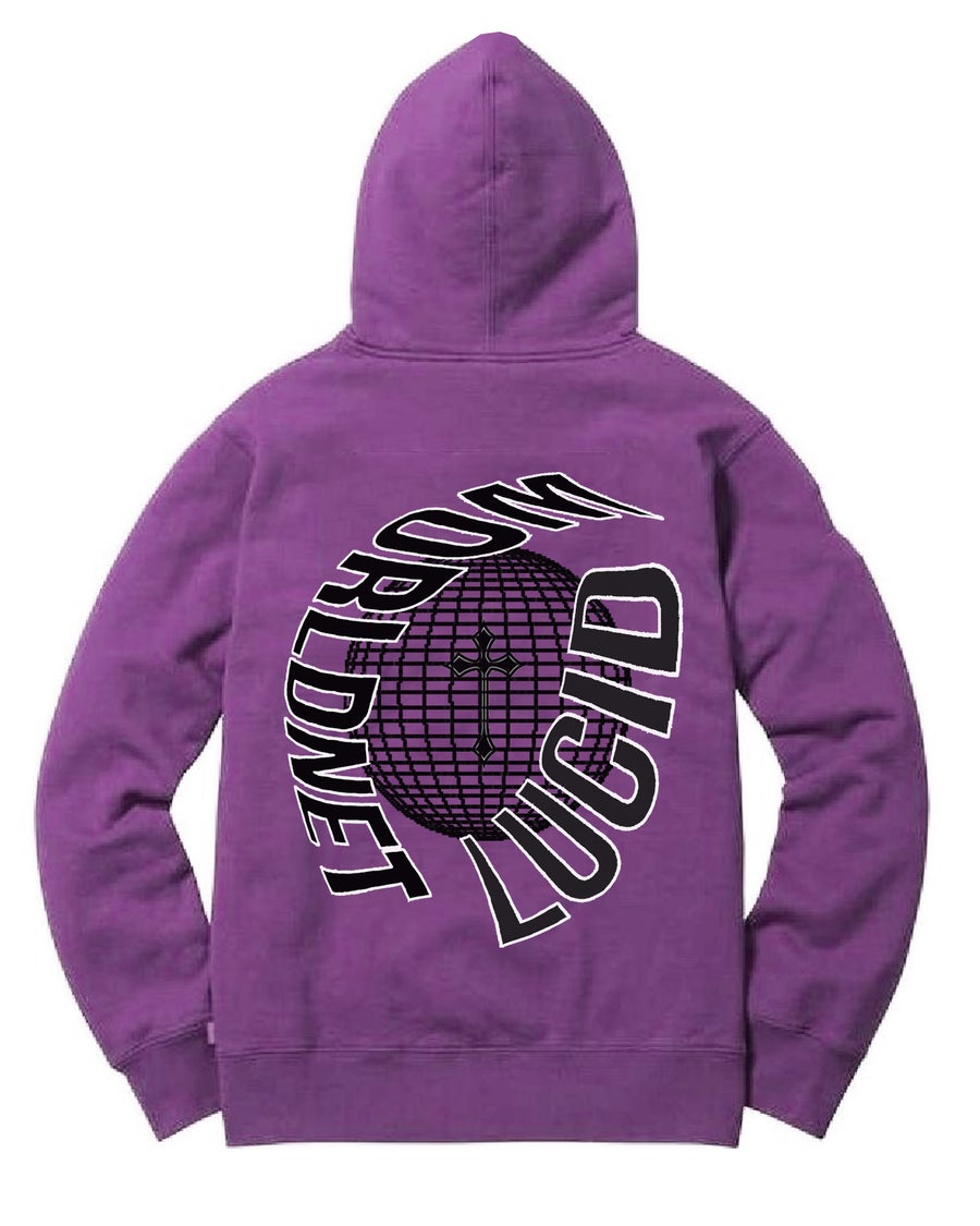 Image of DIALED IN HOODIE - PURPLE