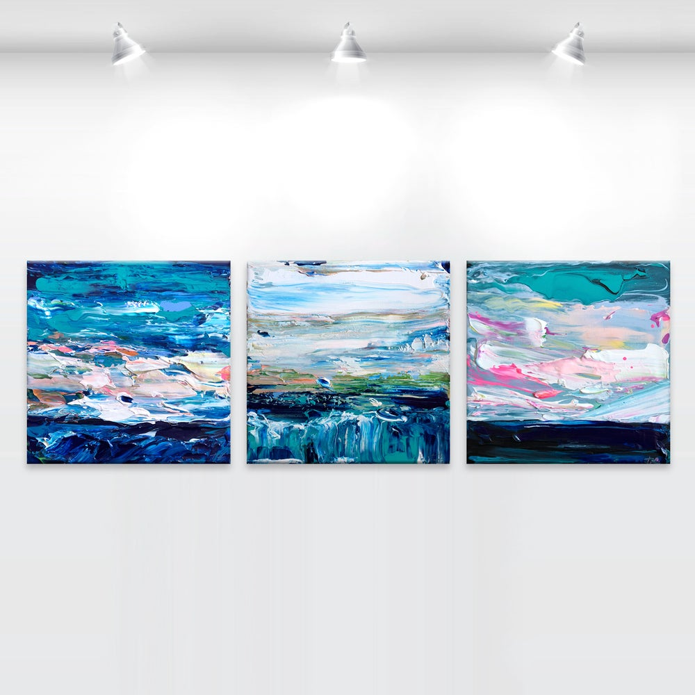 Image of Coastal no.41 - triptych - 90x30cm
