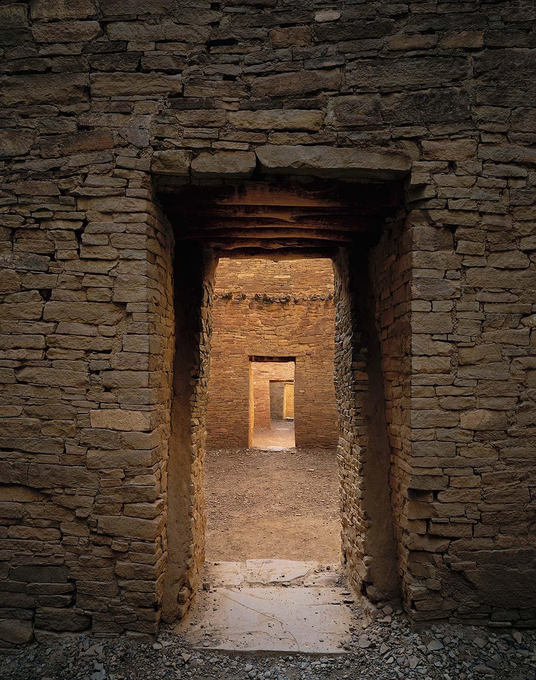Image of Illuminated Doorways, Chaco Canyon National Park, New Mexico