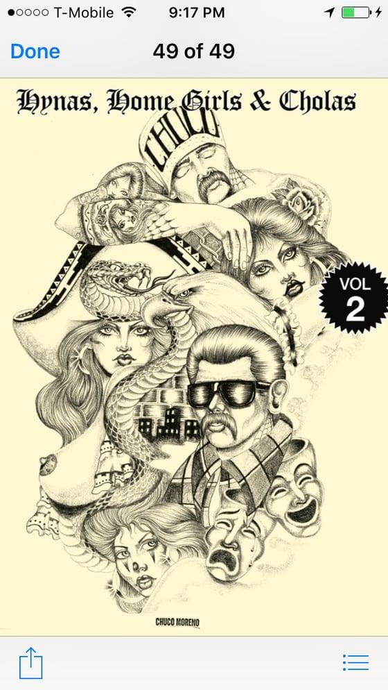 Image of Hynas, Homegirls, & Cholas volume 2 Tattoo line work book