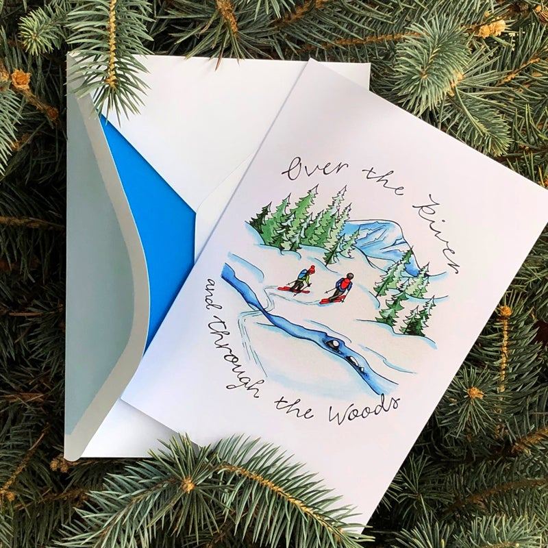 "Image of ""Over the River"" Holiday card"