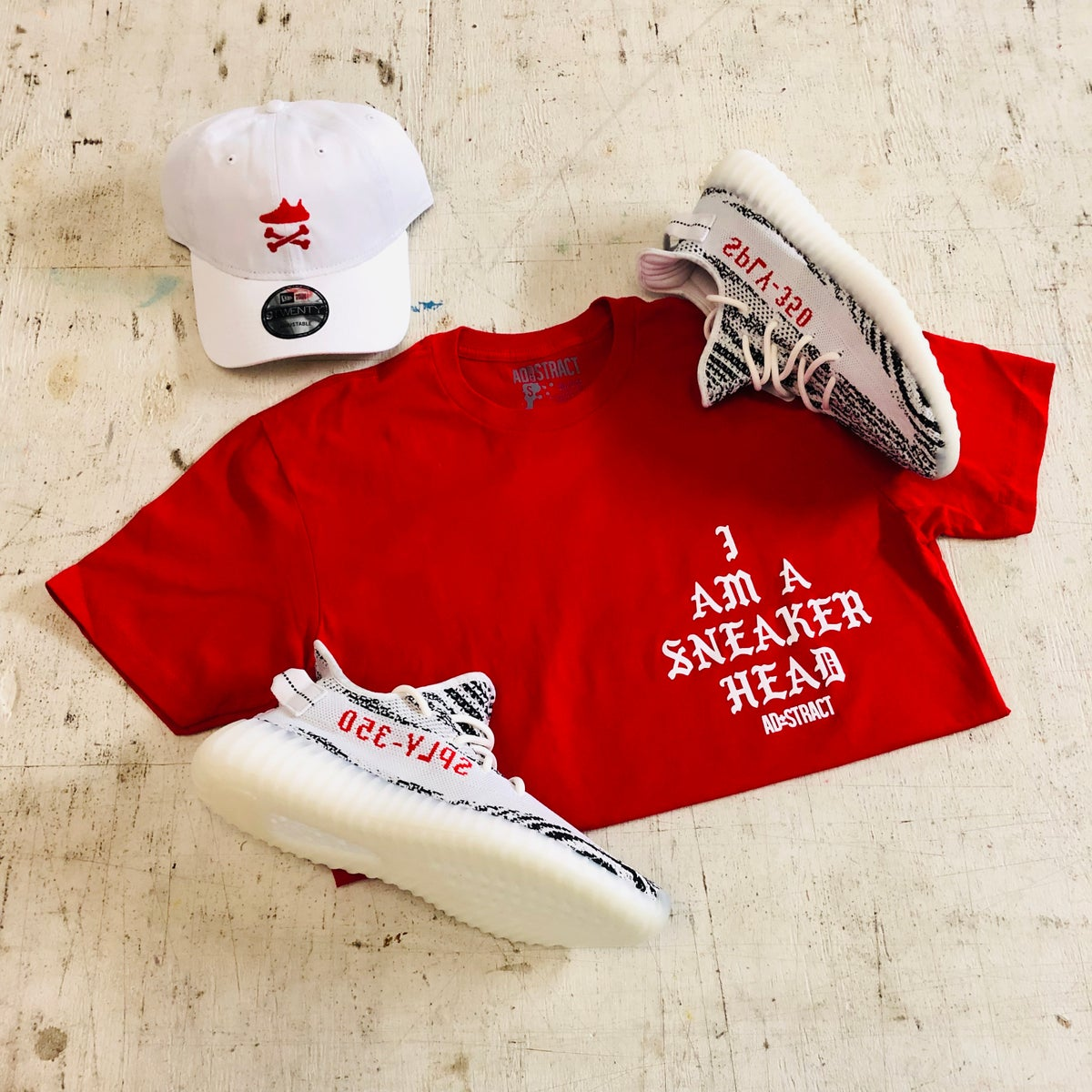 Image of I AM A SNEAKERHEAD (RED/WHITE) TSHIRT OR HOODY