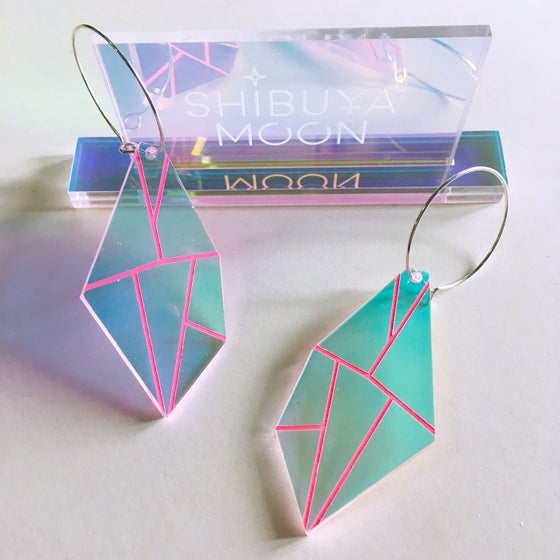 Image of Holographic Gemstones Hoops