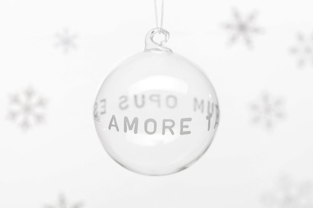 Image of VERBA 8cm Christmas tree ball with white inscription 2019