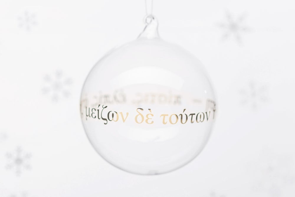 Image of VERBA 11cm Christmas tree ball with gold inscription 2019