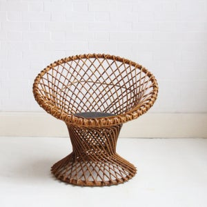 Image of Beautiful wicker chair by Dirk van Sliedrecht C 1950