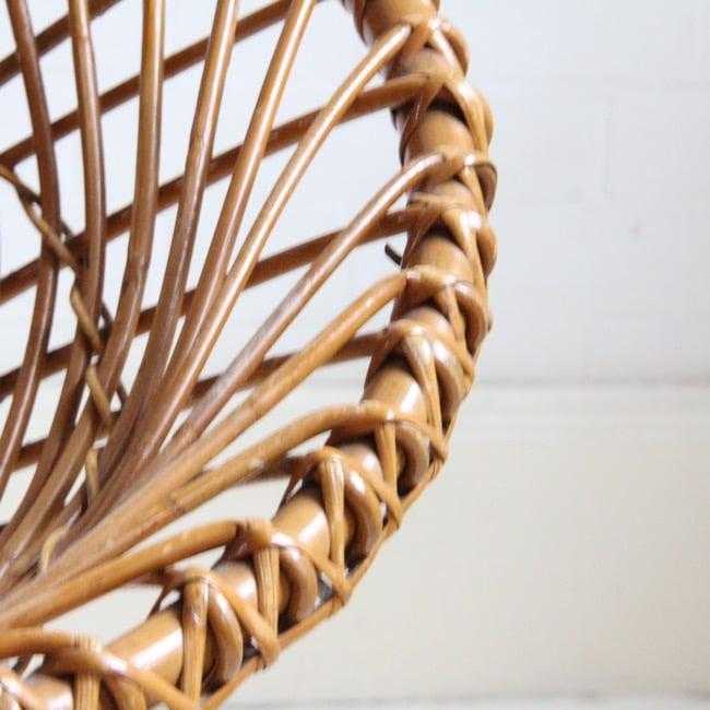 Image of Beautiful wicker chair by Dirk van Sliedrecht C 1950