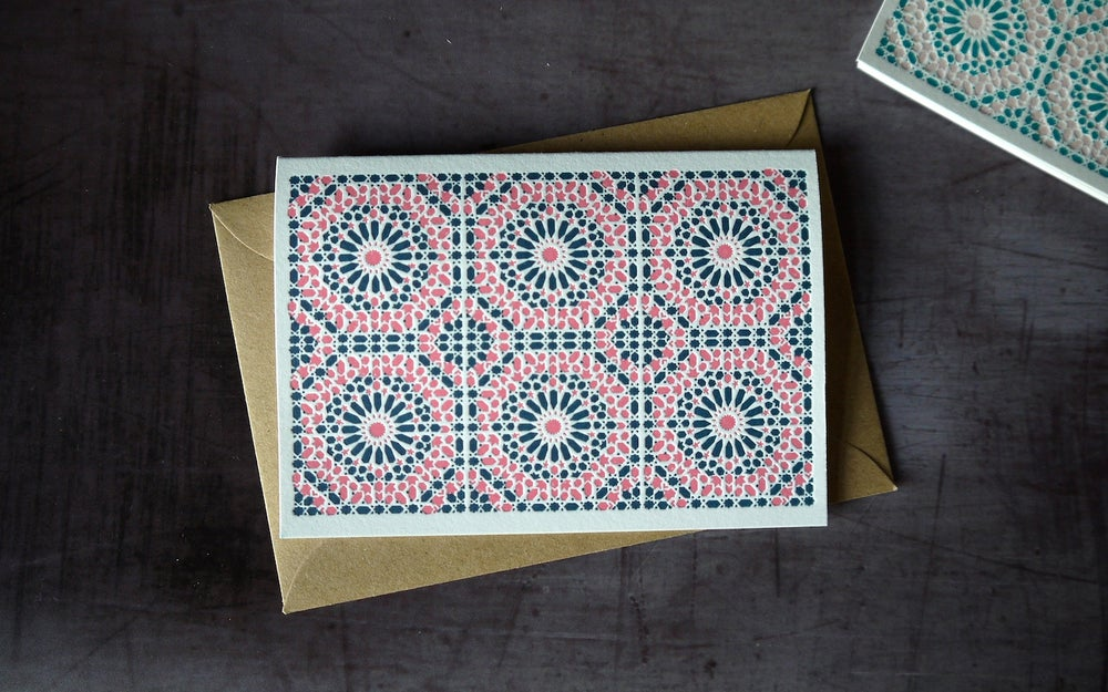 Image of Moroccan Tile Notecards - Set of 6