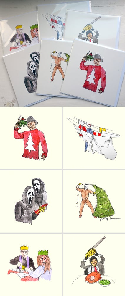 Image of Horror Christmas Cards - Set of 6