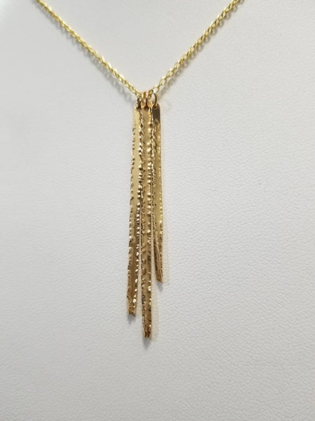 Image of triple spike necklace