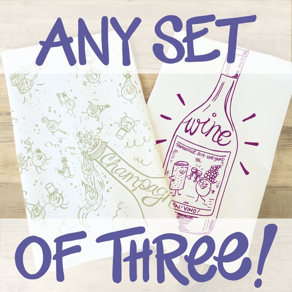 Image of Tea Towel set of THREE!