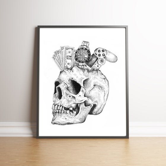 Image of You can't take it with you. Limited edition print.