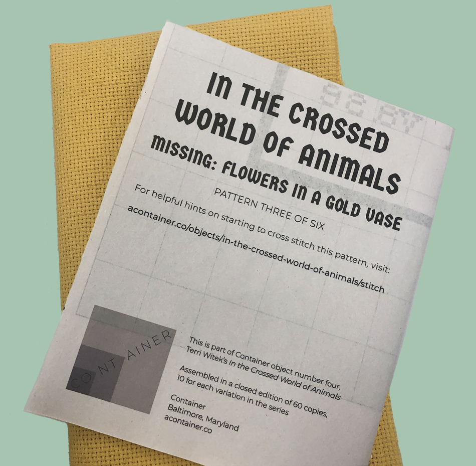 Image of in the crossed world of animals by Terri Witek / missing: flowers in a gold vase