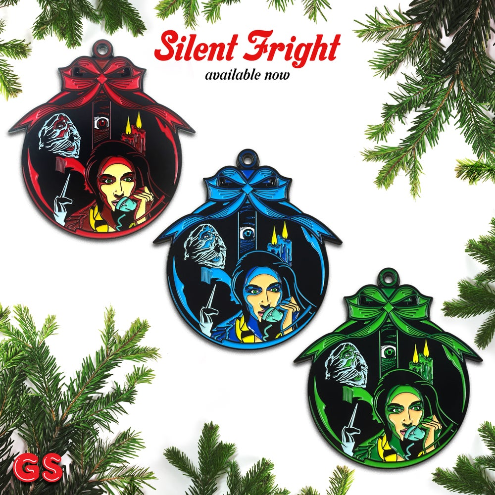 Image of Silent Fright enamel pin/ornament