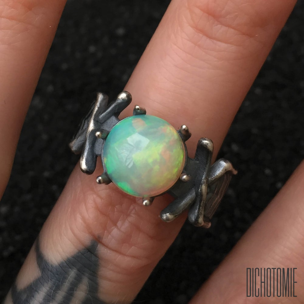 Image of The Nazgûl Ring (OOAK Opal A, Stone Only)