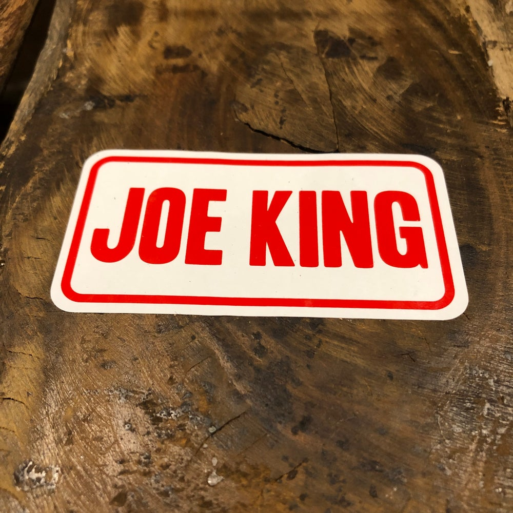 Image of Joe King Helmet Front Sticker (Large)