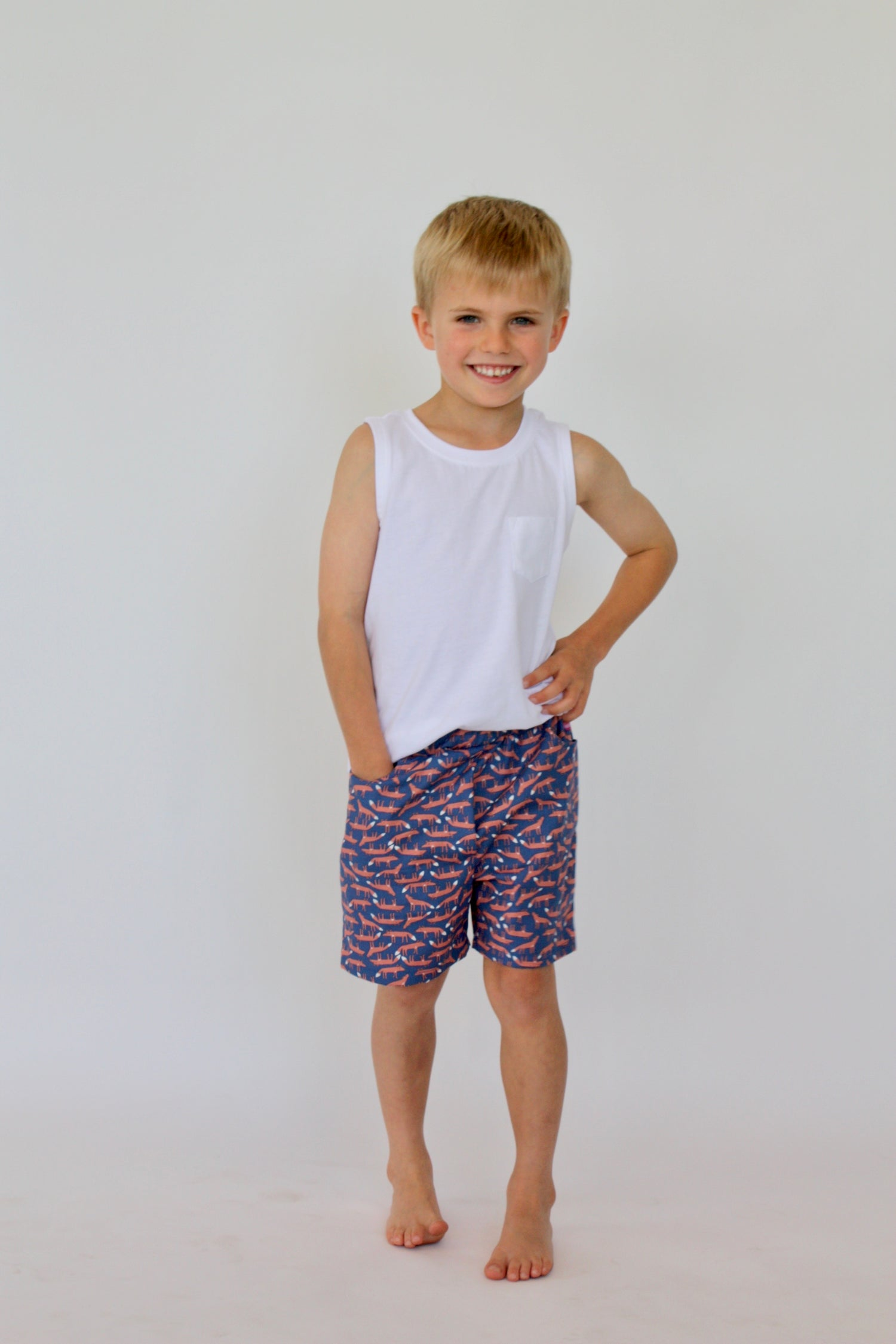 Image of Boy Shorts in Navy Fox
