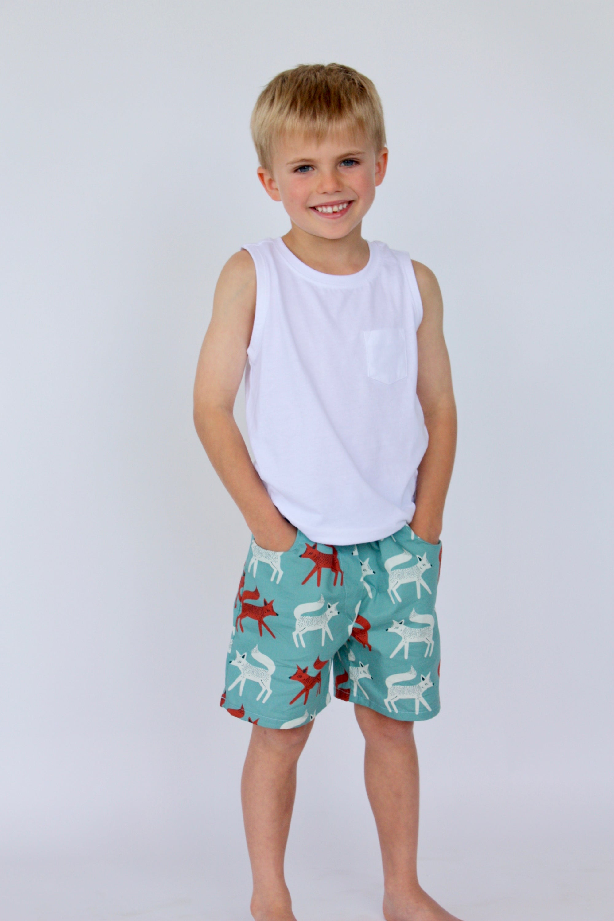 Image of Boy Shorts in Teal Fox