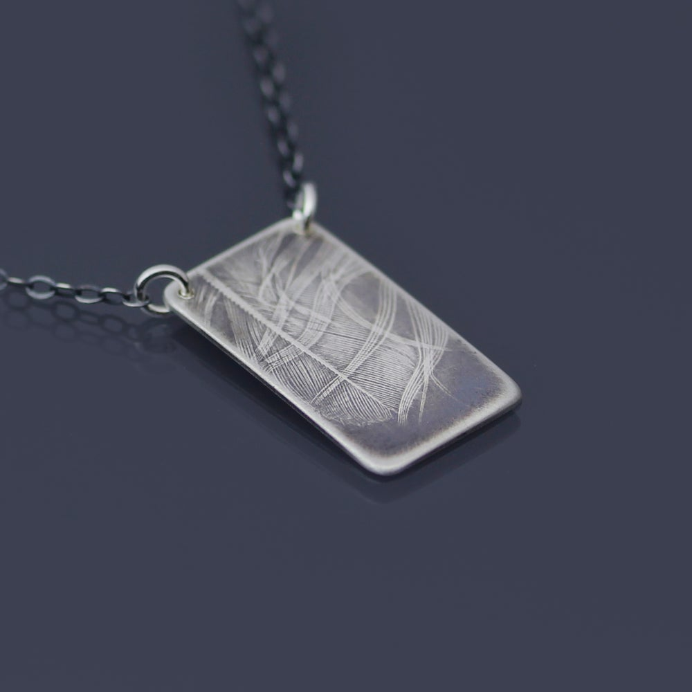 Image of Small Sterling Silver Feather Necklace
