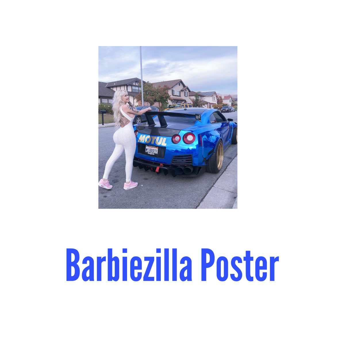 Image of Blue Barbiezilla Poster