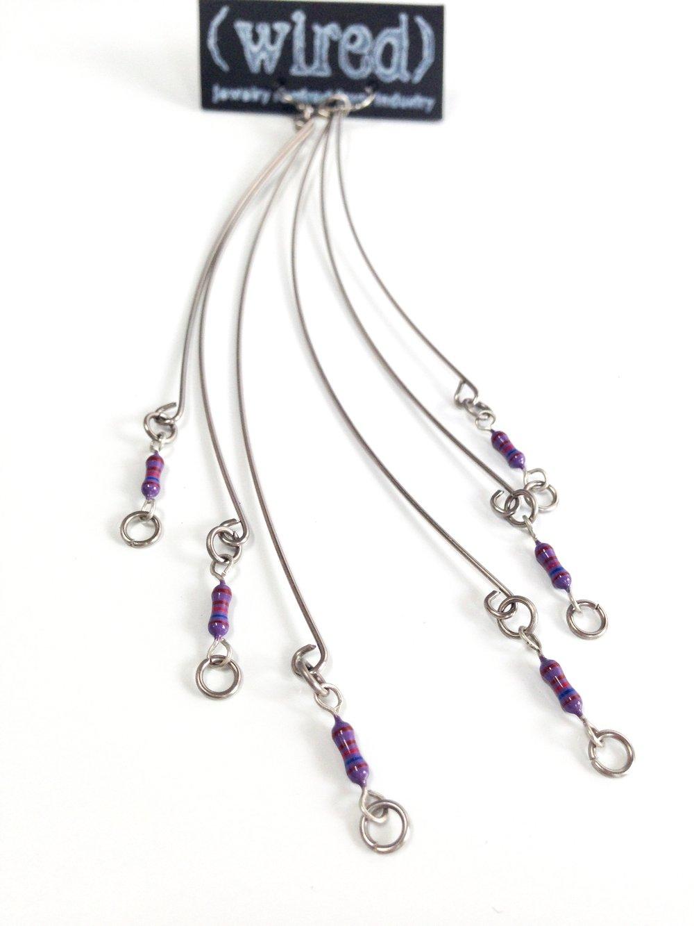 Image of P3 Long Resistor Earrings