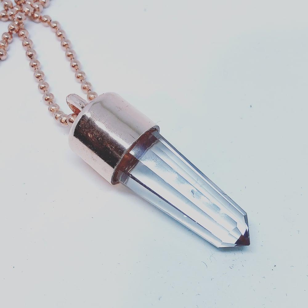 Image of Vogel Quartz Baby Crystal Key Necklace