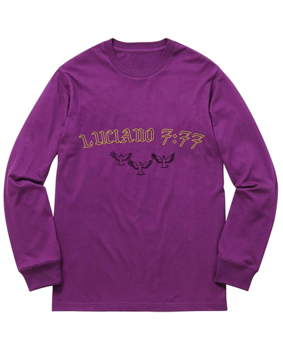 Image of LUCIANO LONGSLEEVE TEE - PURPLE