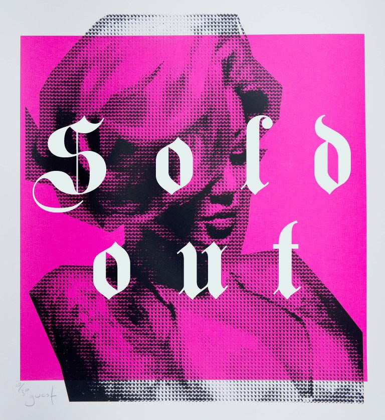 Image of Extremely Limited Hand Pulled Screen Print 'Becky Pink Edition'