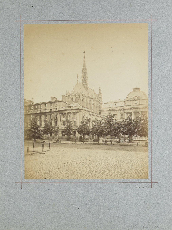 Image of Disdéri: Commune de Paris, Ruines de Paris, albumen print ca. 1871 (lot of two)