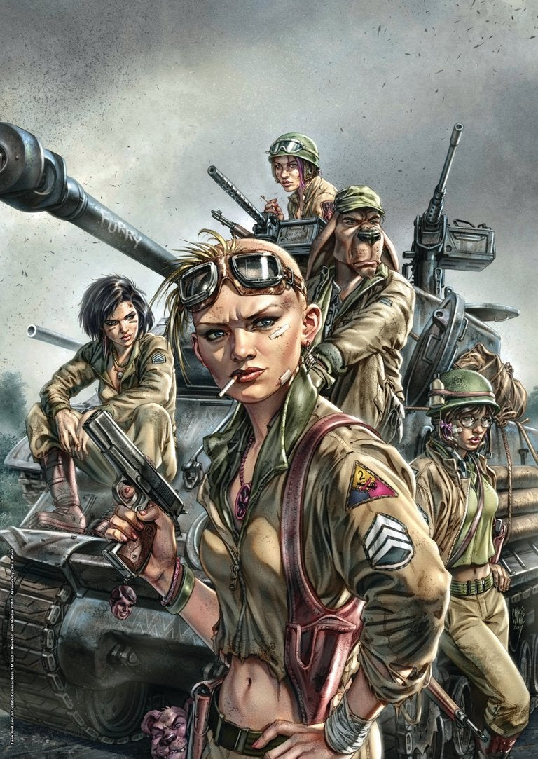 Image of COLLECTORS ITEM World War Tank Girl Poster Magazine Special