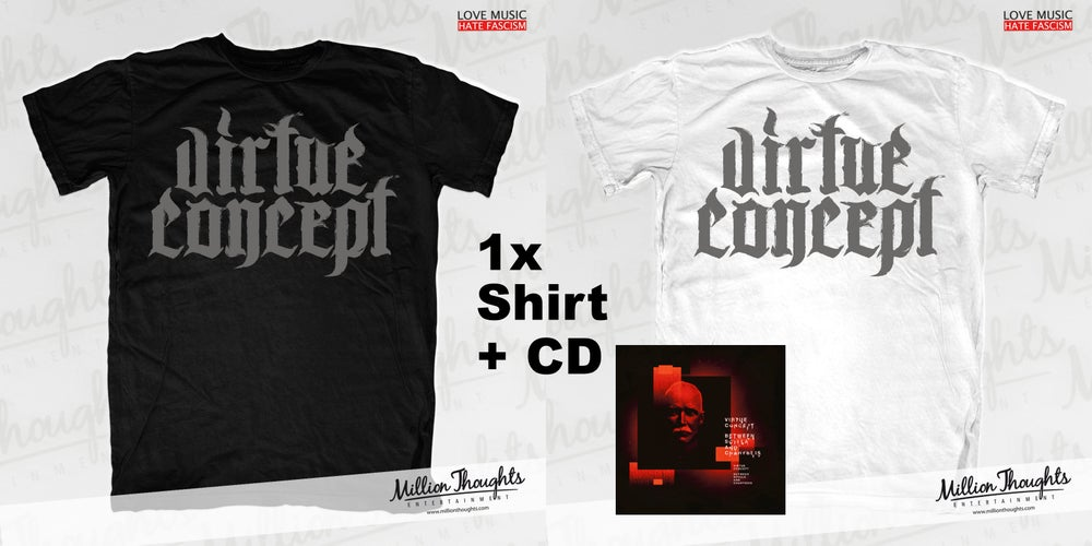 """Image of PRE-ORDER PACKAGE T-Shirt + CD """"Between Scylla and Charybdis"""""""