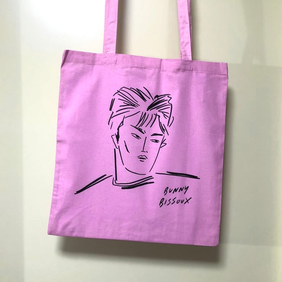 Image of BUNNY BISSOUX - BOY - TOTE BAG - PINK / LIGHT PINK