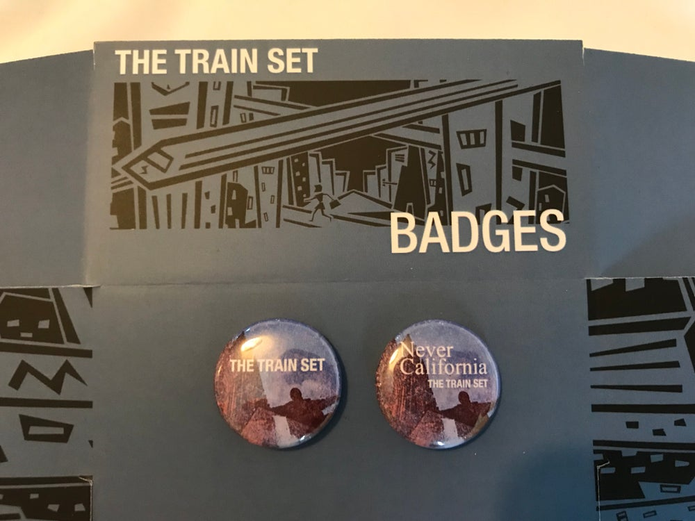 Image of The Train set button badge set.