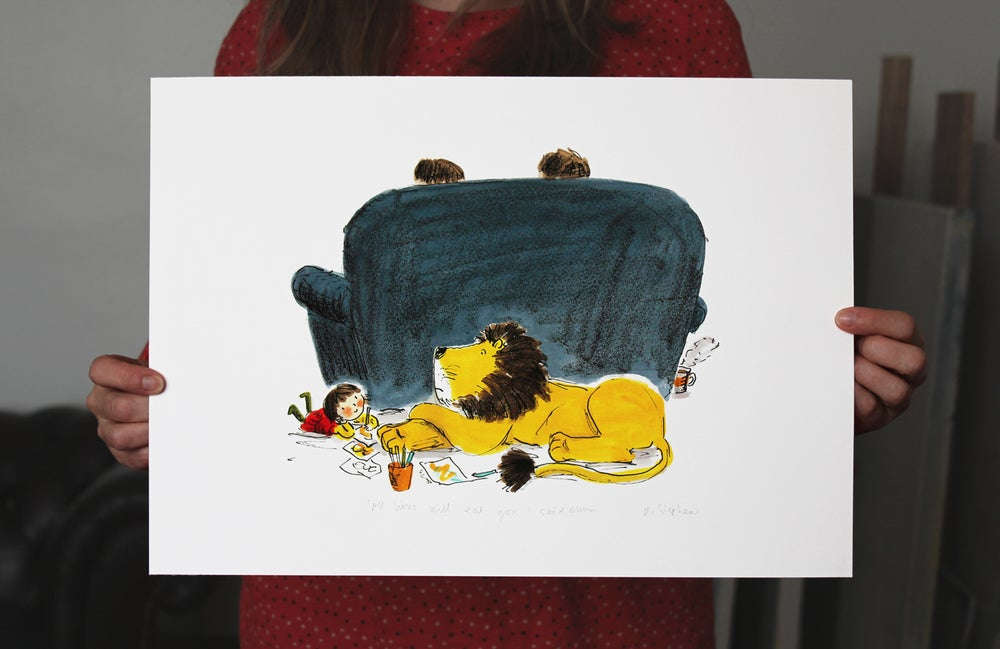 Image of How to Hide a Lion giclée - All Lions Will Eat You.