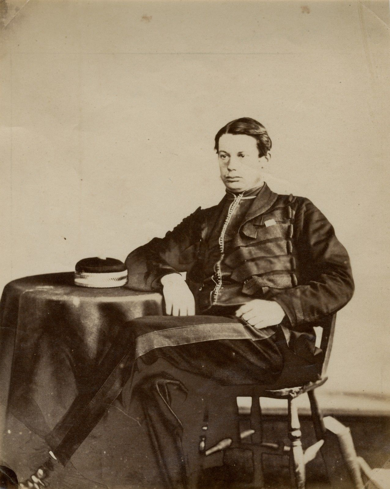 Image of Anonymous: albumen print of UK Captain Barten, ca. 1855