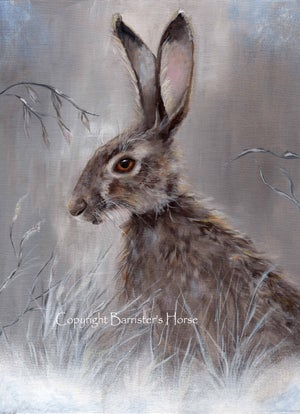 Image of WINTER HARE, FINE ART PRINTS