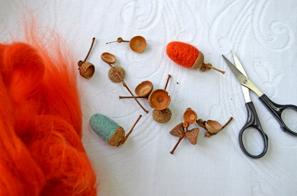 Image of Felted acorn project box
