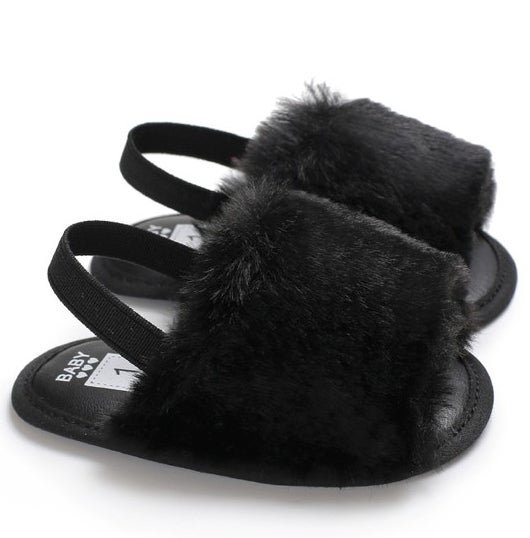 Image of Black Baby Spa Slippers